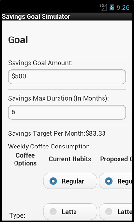 jQueryMobile-ized Goal Panel Increment 1