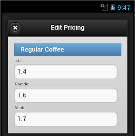 Regular Coffee Pricing